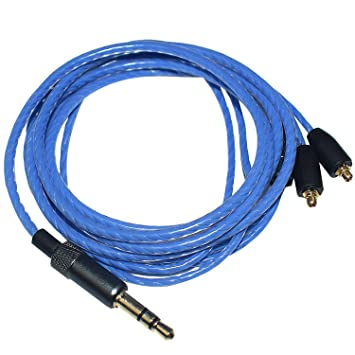 Alitutumao OFC Upgrade Audio Cable Replacment for Shure SE215 SE315 SE425 (Blue)
