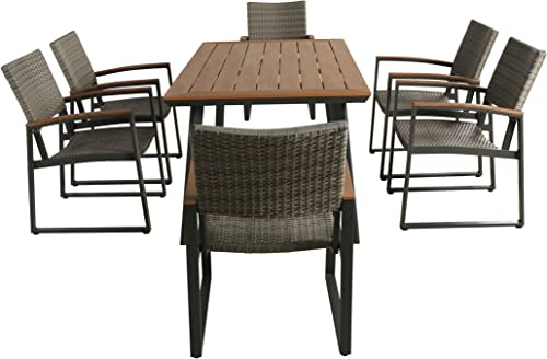 Christopher Knight Home Loren Outdoor 7 Piece Aluminum Dining Set