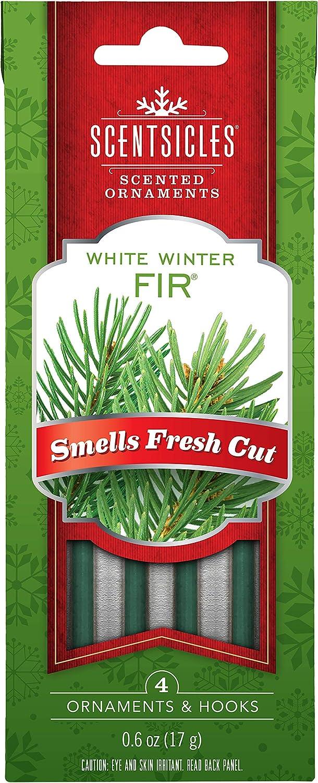 Scentsicles Tree Ornament White Winter Fir Scented Sticks