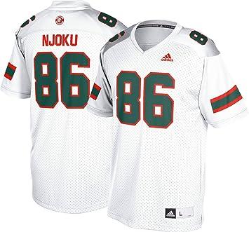 newest 9a98f e5f38 Amazon.com : adidas David Njoku Miami Hurricanes NCAA Men's ...