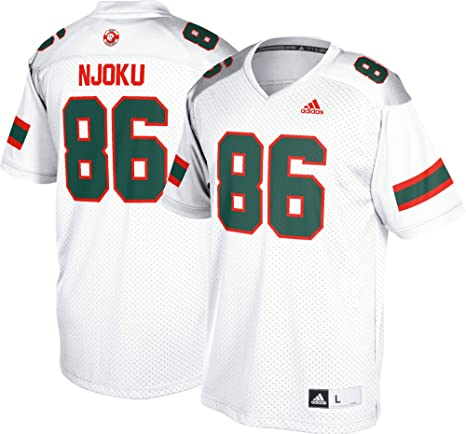 4eba18a71d Amazon.com : adidas David Njoku Miami Hurricanes NCAA Men's White ...
