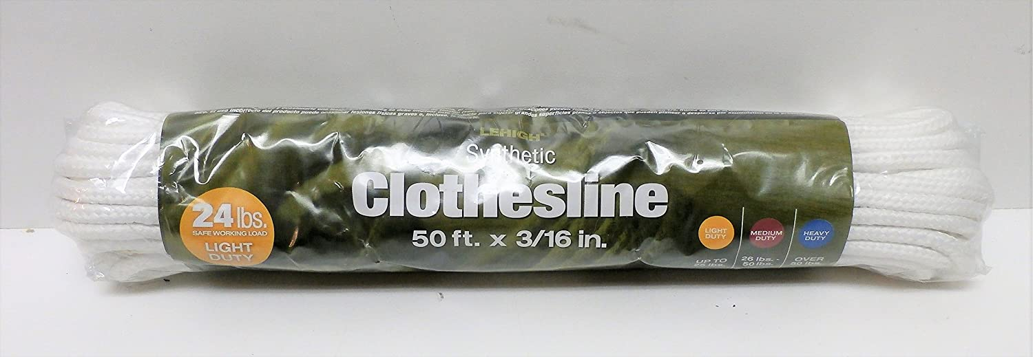 Amazon.com: SecureLine by Lehigh 815-10P Number 6 x 50-Feet All Purpose Clothesline: Home Improvement