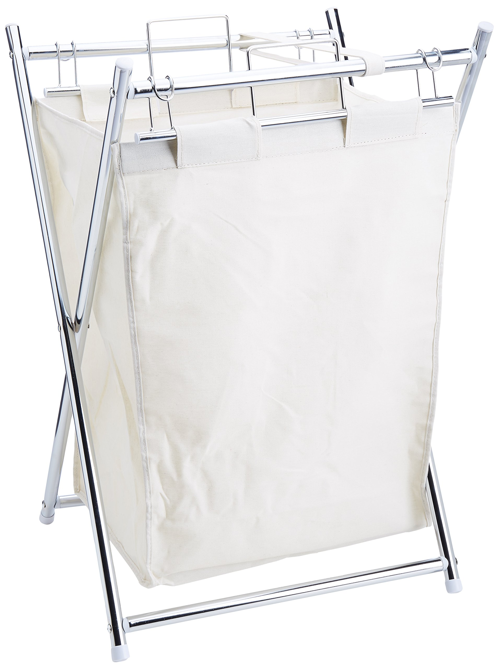 Organize It All Collapsible Chrome Laundry Hamper with Removable Canvas Liner by Organize It All