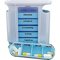 M&H 24 Pillendose Pillenbox Tablettendose Tablettenbox Medikamentendosierer Wochendosierer für 7 Tage