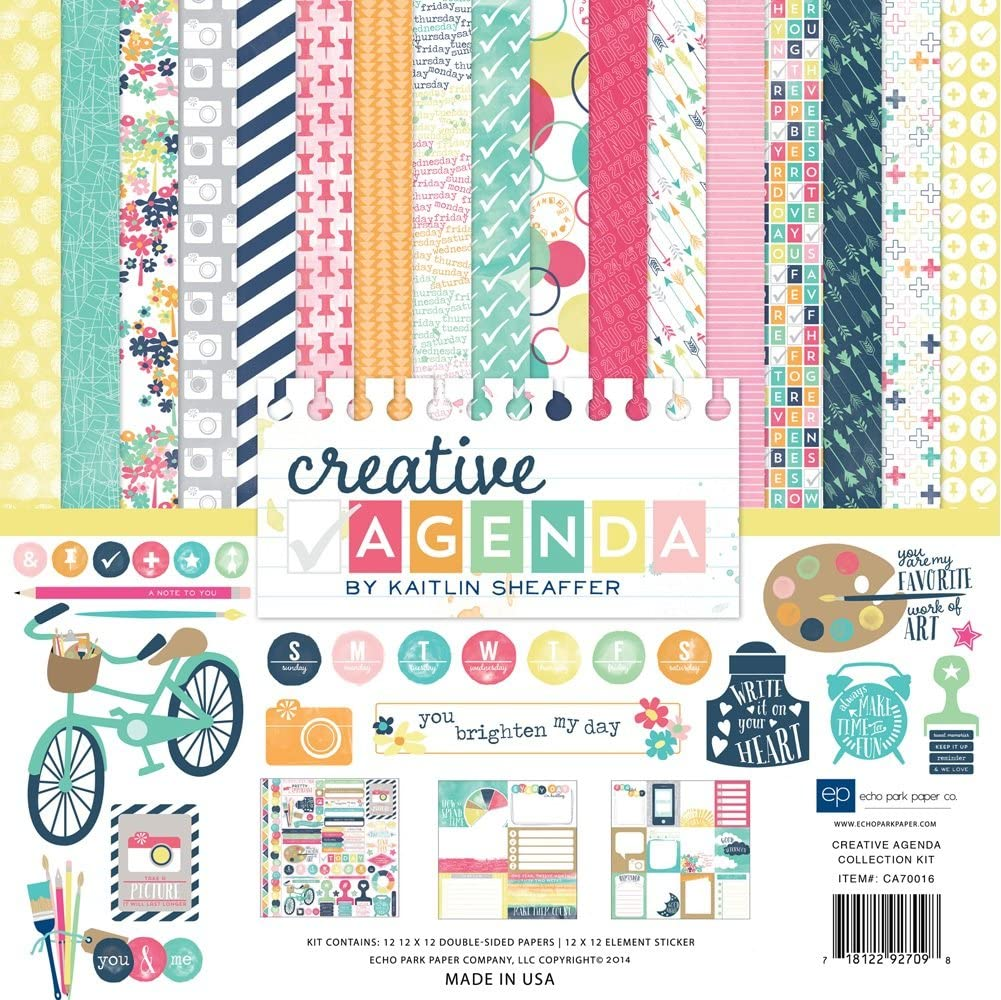Just Be You Smile 12x12 Scrapbook Paper Echo Park