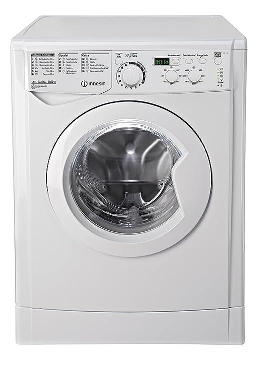 Indesit EWD 61482 W DE Waschmaschine FL / 163 kWh / 1400 UpM / 6 kg / 8643 Liter/MyTime, Schneller als 1 Stunde/Inverter-Moto