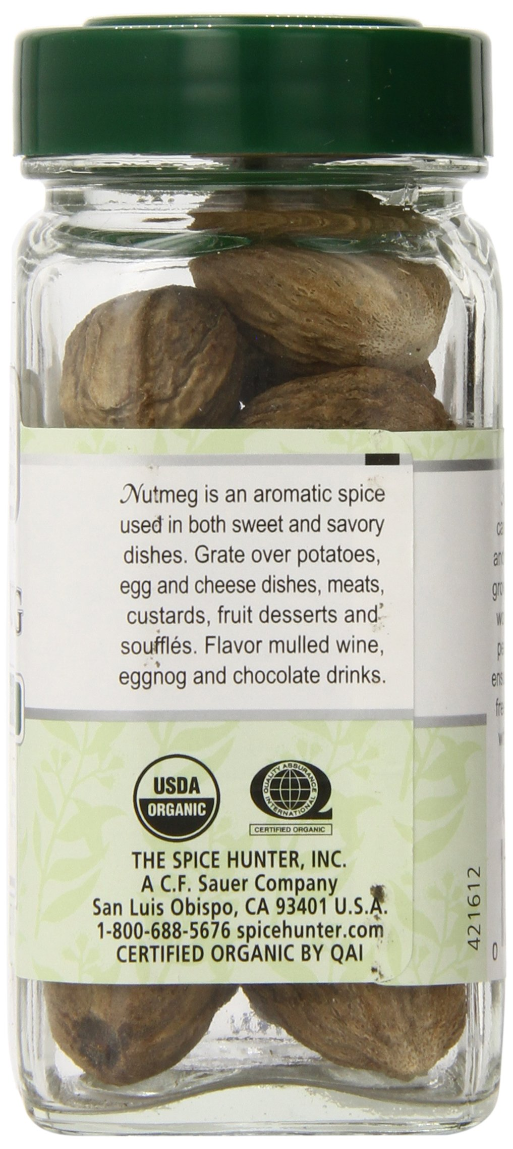 The Spice Hunter Organic Nutmeg, Whole, 1.8 oz. jar by Spice Hunter (Image #2)