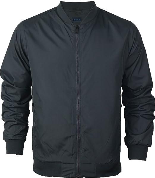 Chaqueta Bomber MA1 para hombre, chaqueta Harrington para ciclista, forrado impermeable, ligero,