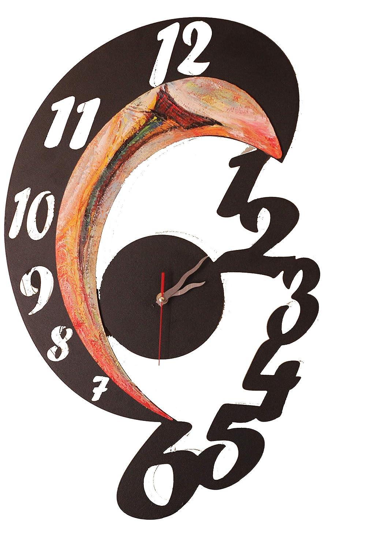 Reloj metálico de pared moderno para comedor y con la maquinaria silenciosa. Modelo ETA, decorado a mano.