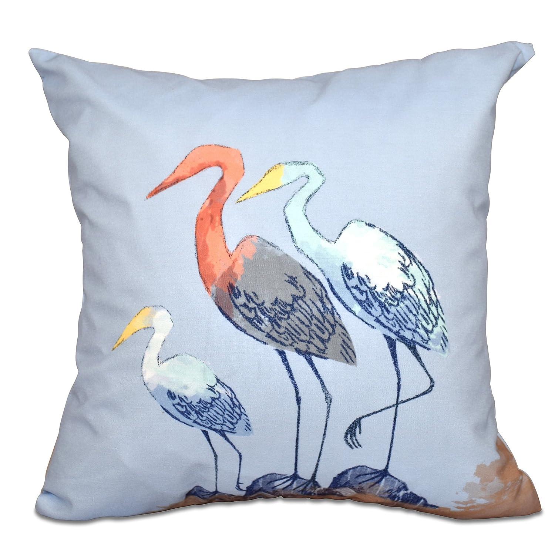 E by design PAN455BL18-20 20 x 20 inch, Sunbathers, Animal Print Pillow 20x20 Blue