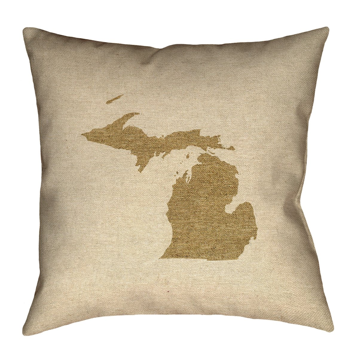 ArtVerse Katelyn Smith 20 x 20 Cotton Twill Double Sided Print with Concealed Zipper /& Insert Michigan Canvas Pillow