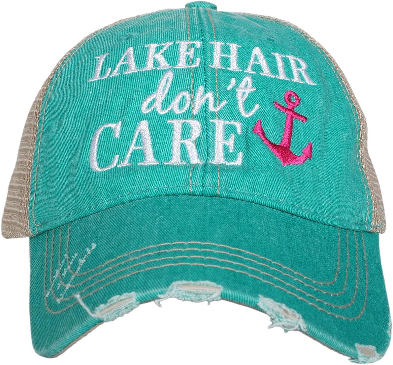 KATYDID Lake Hair Don't Care Women's Trucker Hat Cap