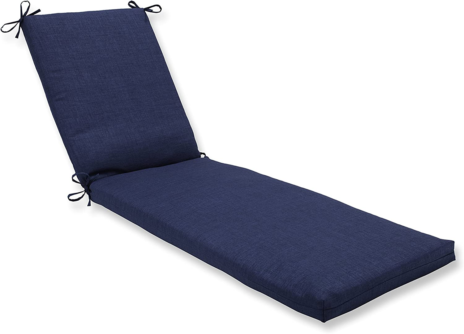 Pillow Perfect Outdoor/Indoor Rave Indigo Chaise Lounge Cushion 80x23x3,Blue
