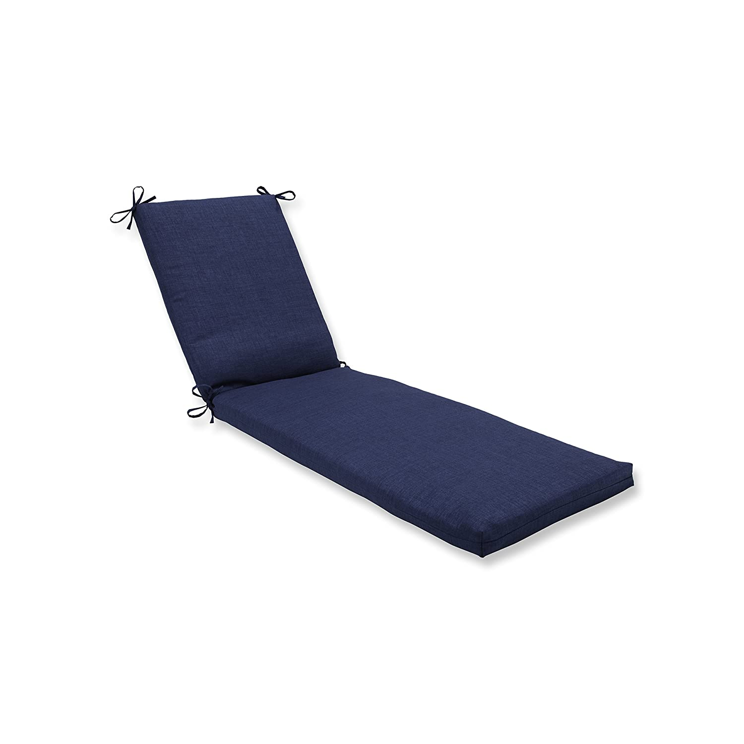 Pillow Perfect Outdoor Indoor Rave Indigo Chaise Lounge Cushion 80x23x3