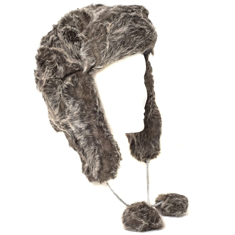 Hat To Socks Faux Fur Russian Style Trapper Hat Grey