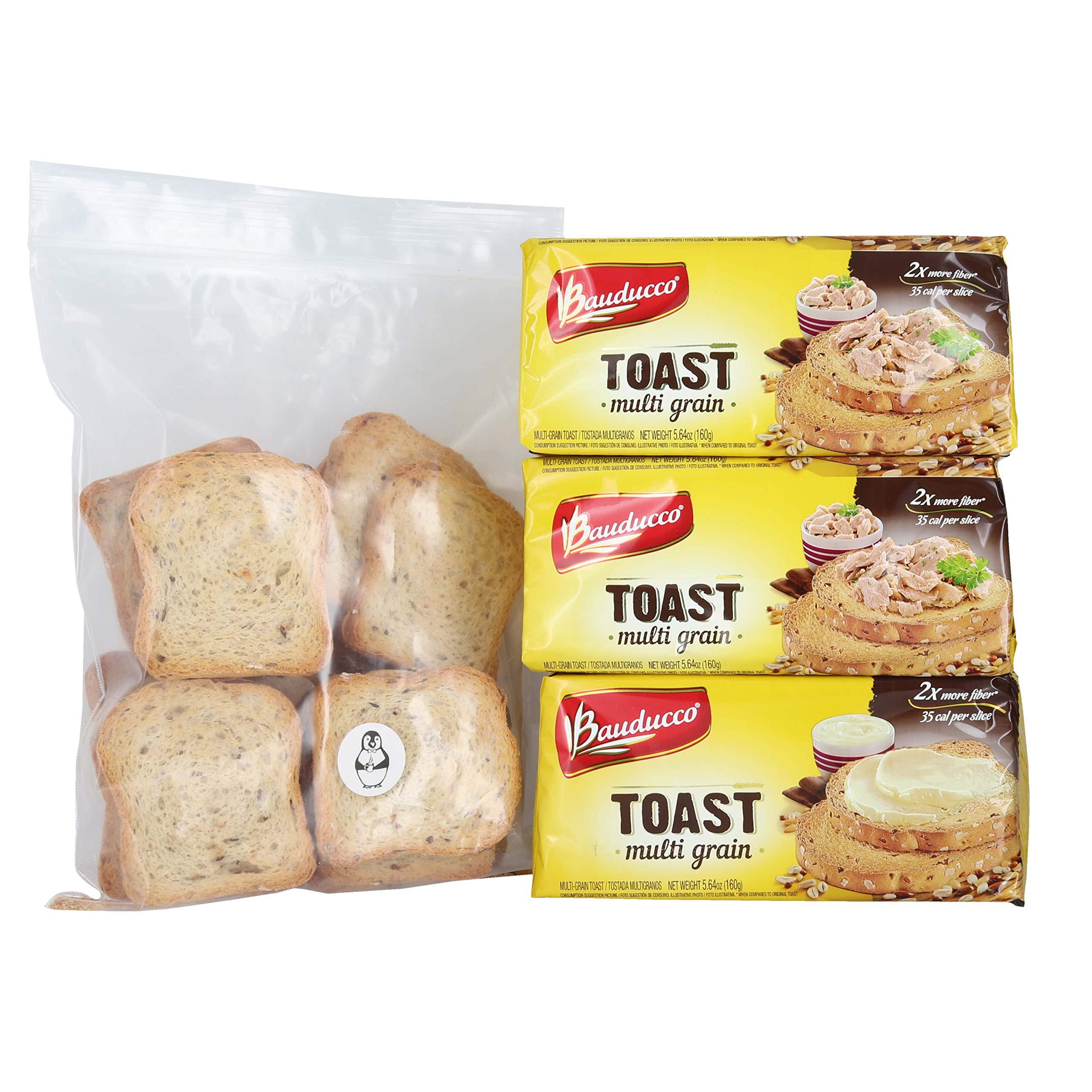 Bauducco Multi Grain Toast - (3 Pack) W/ Premium Penguin Quick Storage Pouch by Bauducco