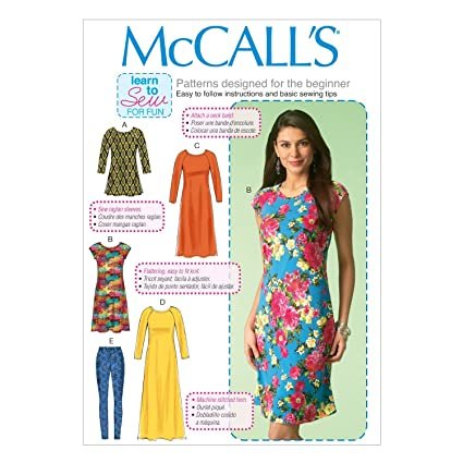 Amazon McCall's Patterns M40 Misses' TunicDresses Leggings Simple Mcall Patterns