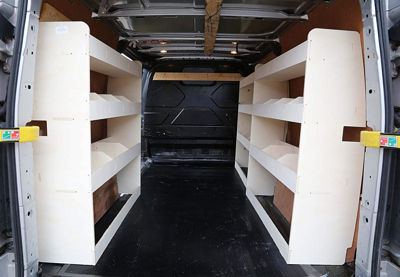 Tool Rack Racking Storage System Adatto per Ford Transit Custom SWB NS Posteriore Leggero compensato Van Scaffalatura