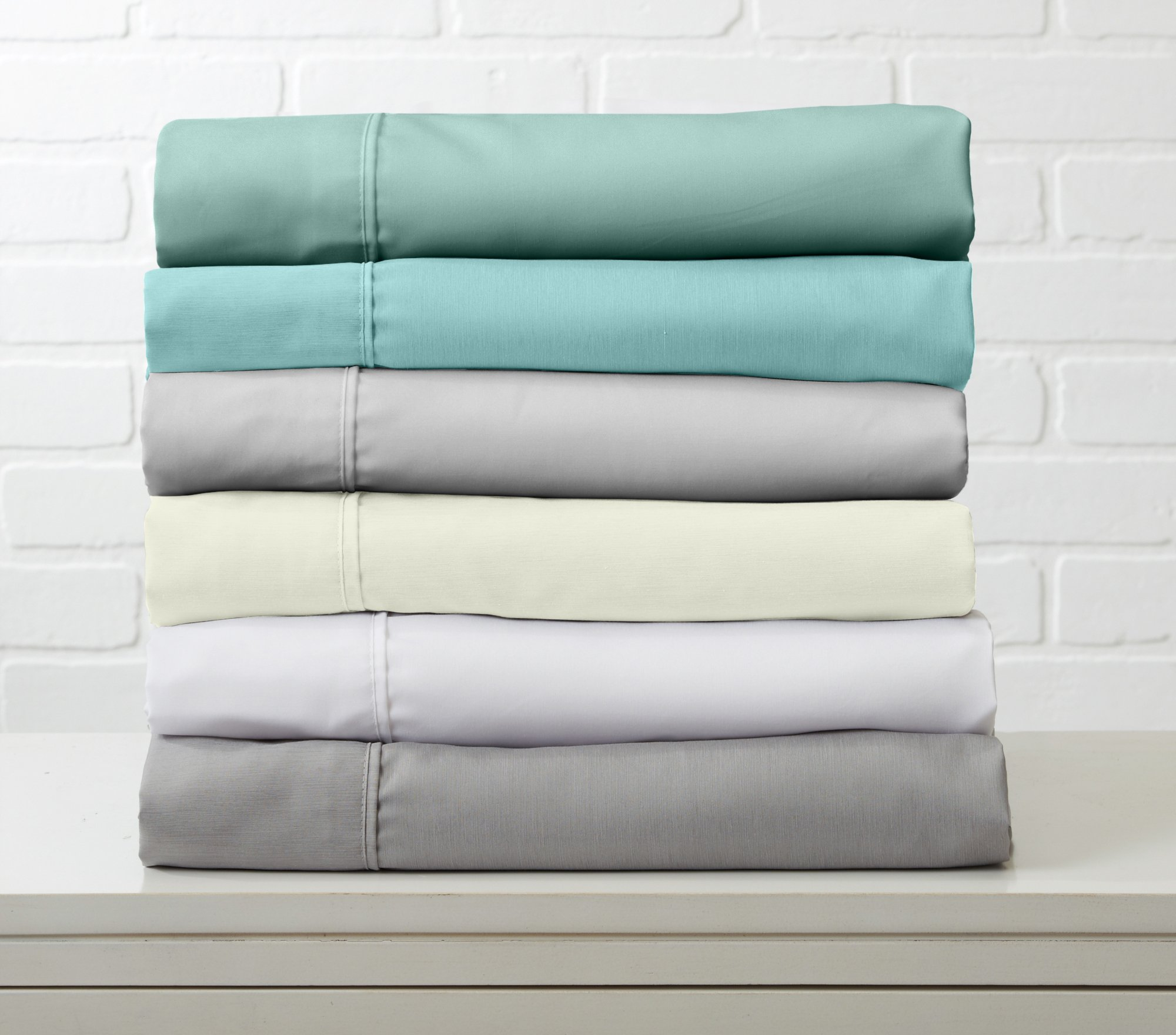 Great Bay Home Luxury Ultra Soft Bamboo Sheet Set. Spa-Quality, Comfortable, All-Season Bed Sheets. By Brand. (King, Paloma Grey) by Great Bay Home (Image #3)