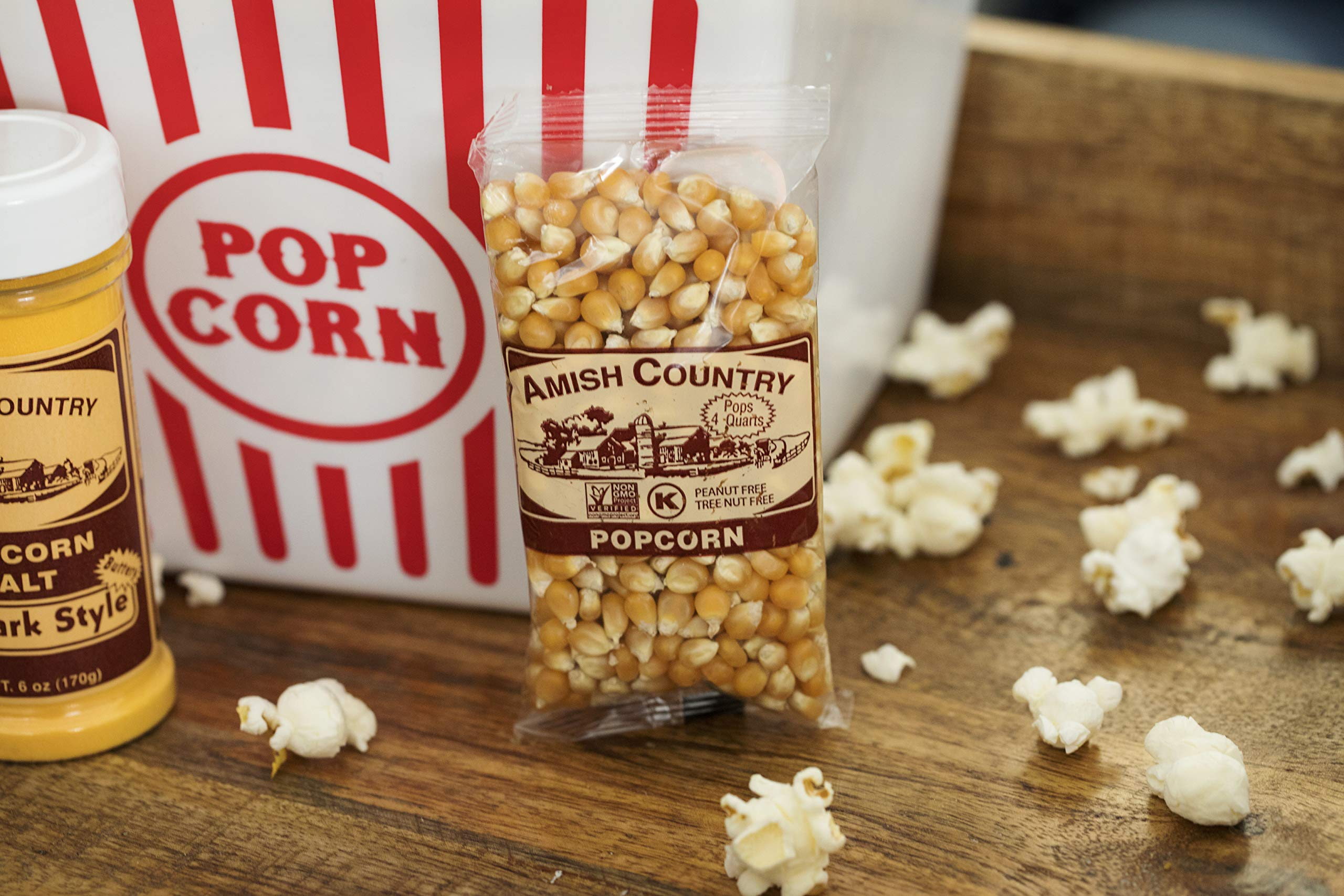 Amish Country Popcorn - Mushroom Popcorn (4 Ounce - 24 Pack) Bags - Old Fashioned, Non GMO, and Gluten Free - with Recipe Guide by Amish Country Popcorn (Image #4)