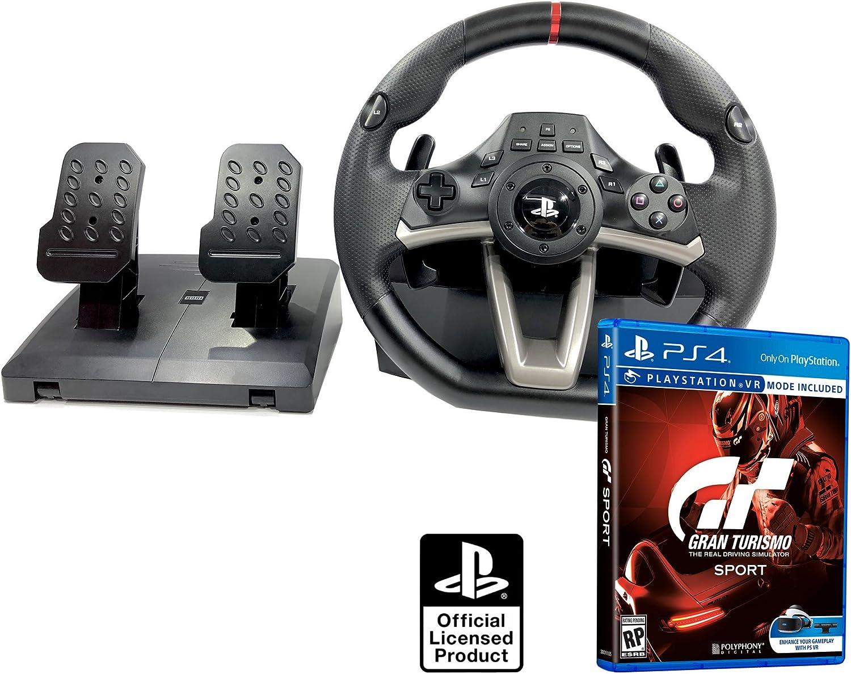 Volante y pedales PS4 Licencia Original Playstation 4 RWA Apex + Gran turismo