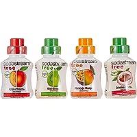Sodastream  Free - die kalorienarme Erfrischung mit Maracuja-Mango, Kiwi-Birne, Grüntee-Litschi und Apfel-Pfirsich, 4er Pack (4 x 375ml)