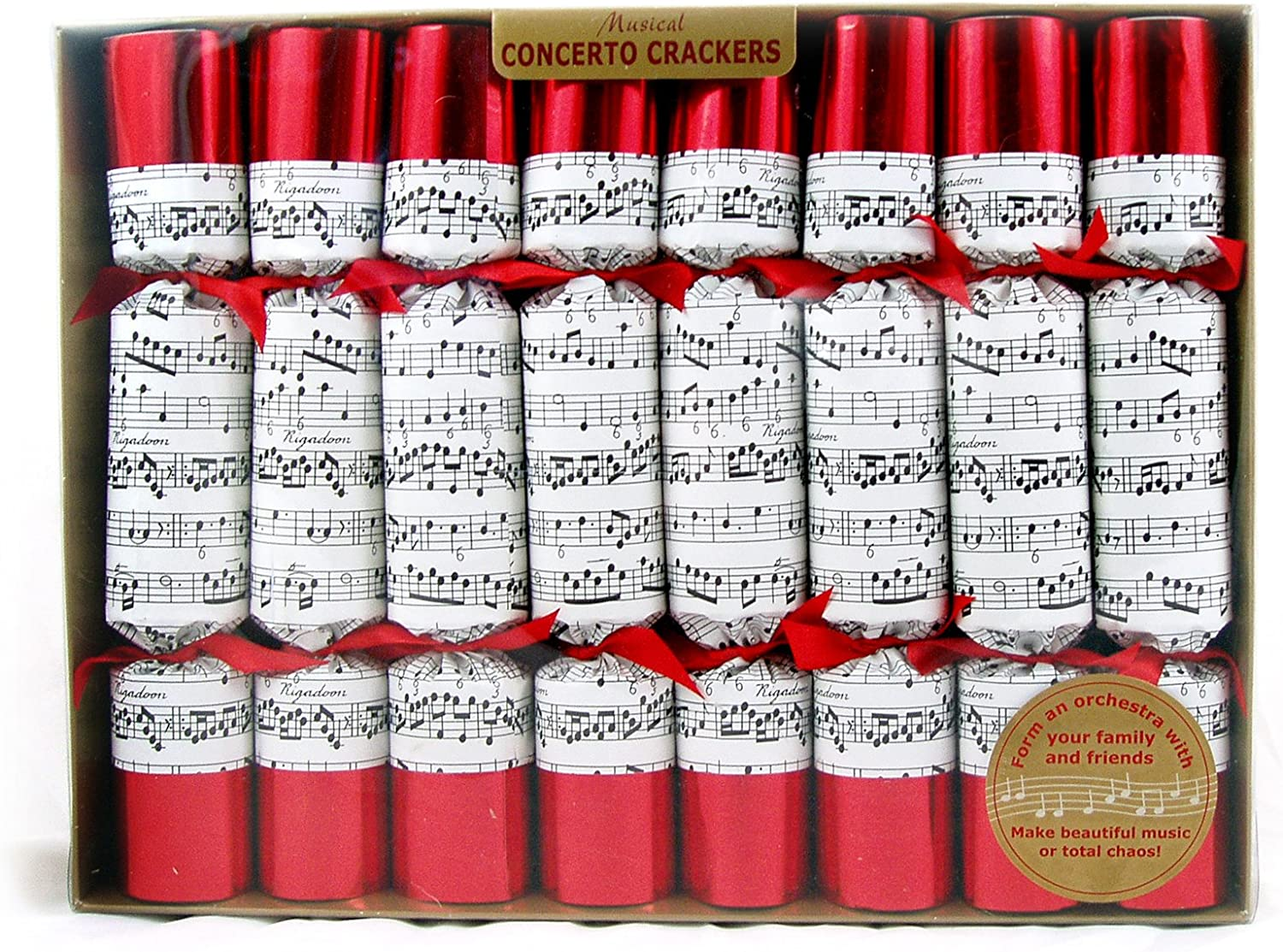 The Deluxe Musical Christmas Cracker Musical Concerto Crackers