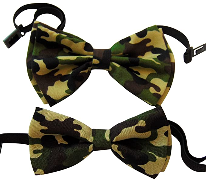 9f1848af71d6 Father and Son Matching Camouflage Bow Tie Set Boxed Two Pack in ...