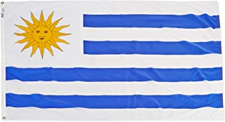 product image for Annin Flagmakers Model 199209 Uruguay Flag Nylon SolarGuard NYL-Glo, 4x6 ft, 100% Made in USA to Official United Nations Design Specifications