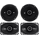 """Package: Pair of Kicker 43DSC4604 120 Watt 4x6 2-Way Car Stereo Speakers + Pair of Kicker 43DSC6504 6.5"""" 240 Watt 2-Way Coax Car Stereo Speakers"""