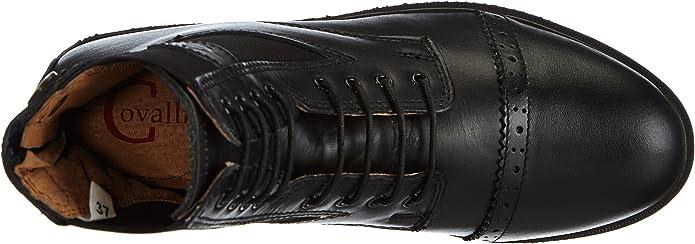 Covalliero Bottillons en Cuir pour Cheval Monaco Noir Taille 37