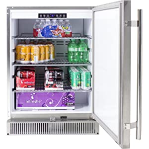 Blaze Outdoor Rated Stainless Steel Refrigerator
