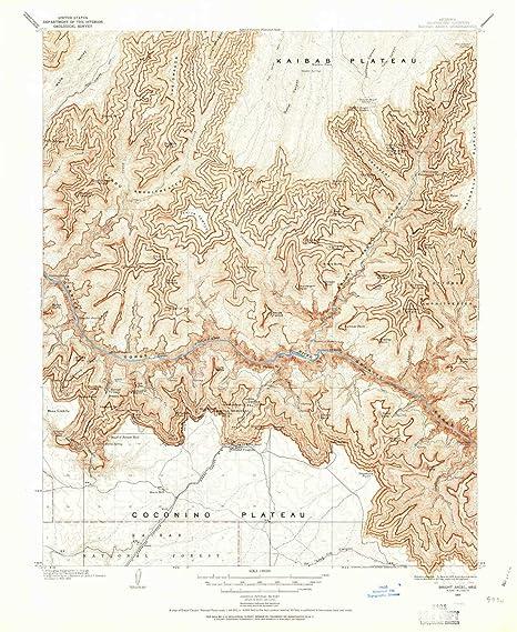 Amazon Com Yellowmaps Bright Angel Az Topo Map 1 48000