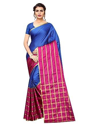 a1265d81d4487 Pisara Women Poly Cotton Saree