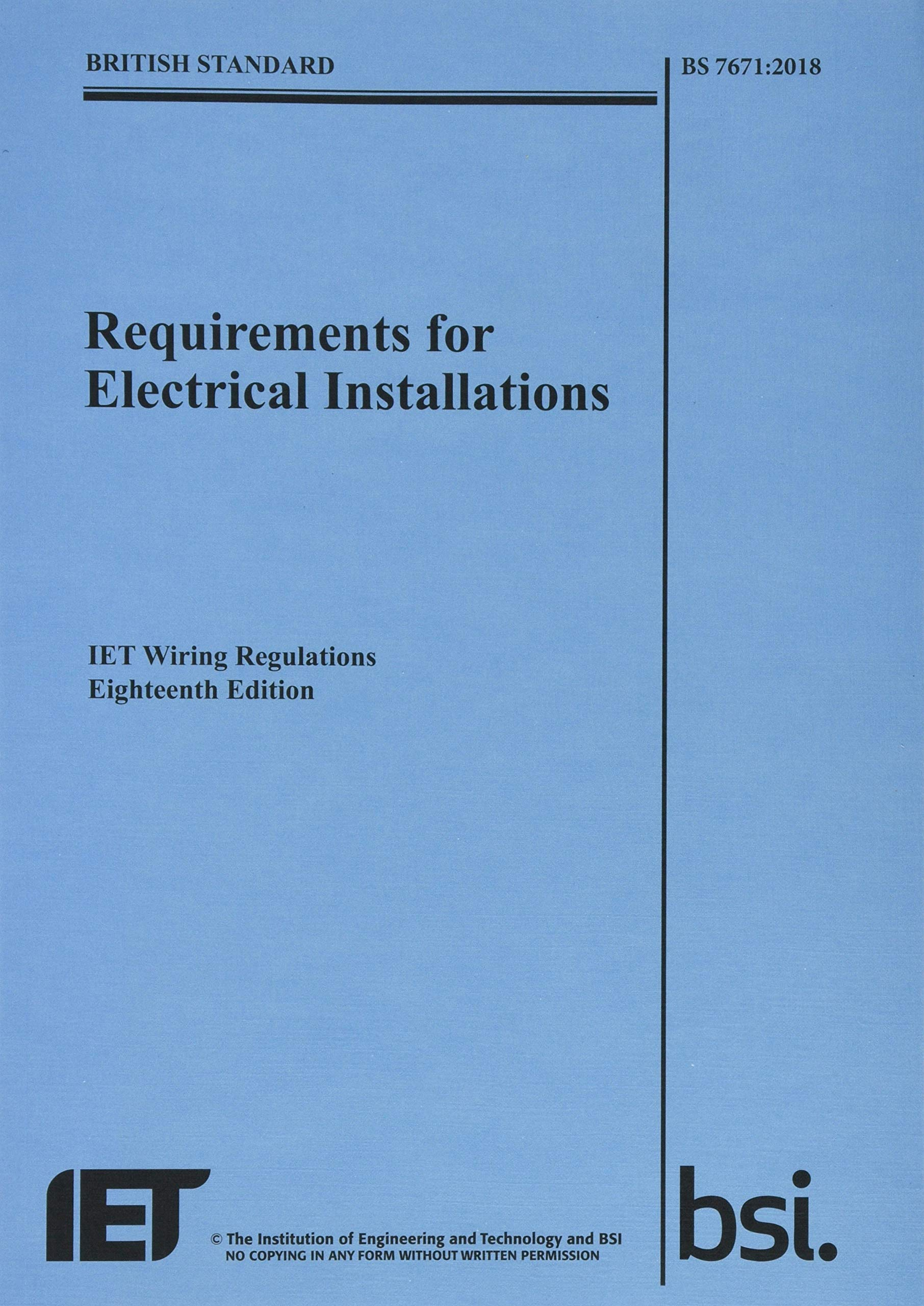 Requirements for Electrical Installations, IET Wiring ... on