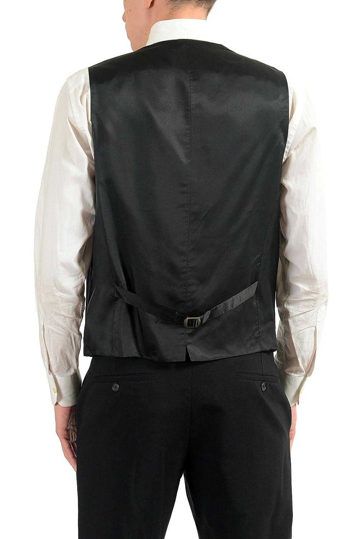 1595e92a Amazon.com: Hugo Boss Westin Men's Gray 100% Wool Button Up Dress Vest Size  US 44 IT 54: Clothing
