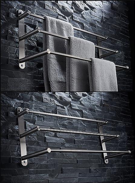 Wand-Handtuchhalter Handtuchhalter Toilette Badezimmer Multifunktional gr/ö/ße : 60cm Xueyan Handtuchhalter aus Edelstahl