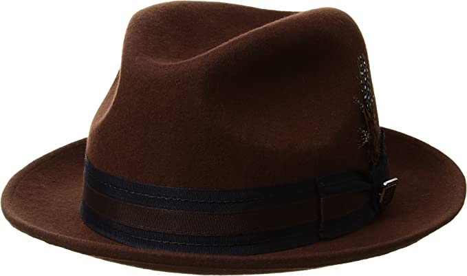 eeba7510f48 Image Unavailable. Image not available for. Color  STACY ADAMS Men s Pinch  Front Wool Fedora ...