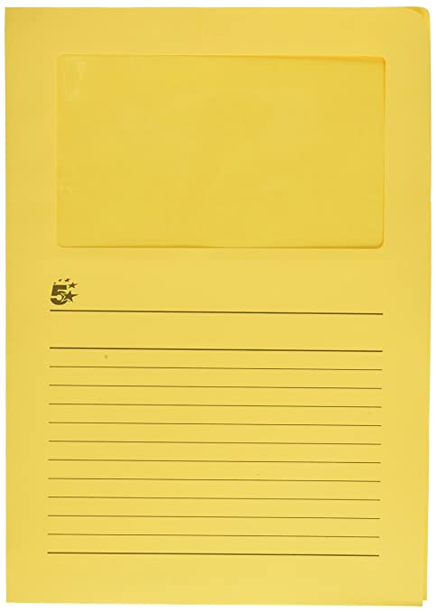 5/Etoiles 241693/Bright Yellow Pack of 50/Coins with Window 120/g 22/x 31/cm