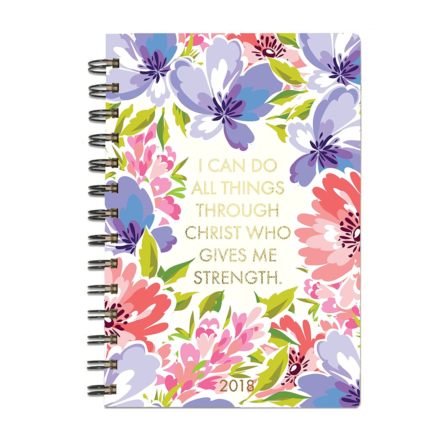 Mary Square Can Do Things Through Christ Floral 18 Month 2017-18 Tabbed Motivational Goal Agenda
