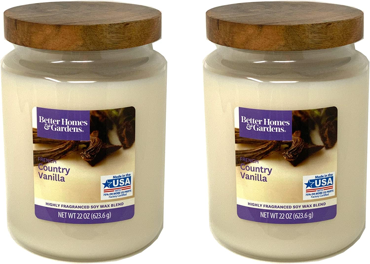 Better Homes Gardens 22oz Scented Candle, French Country Vanilla 2-Pack