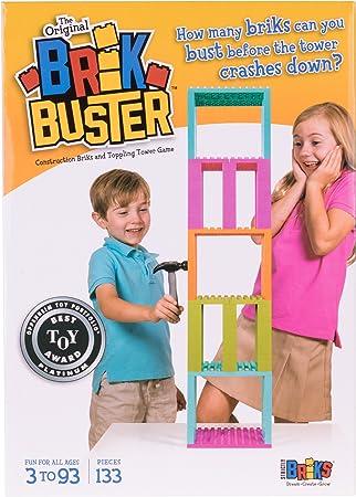 Strictly Briks - Brik Buster - Juego de 133 Piezas para Construir Torres y Luego tirarlas - Galardonado - Hecho por niños para niños de más de 3 años - para 2 Jugadores: Amazon.es: Juguetes y juegos