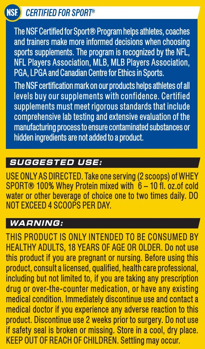 Cellucor Whey Sport Protein Powder, Post Workout Recovery Drink with Whey Protein Isolate, Creatine Glutamine, Chocolate, 18 Servings