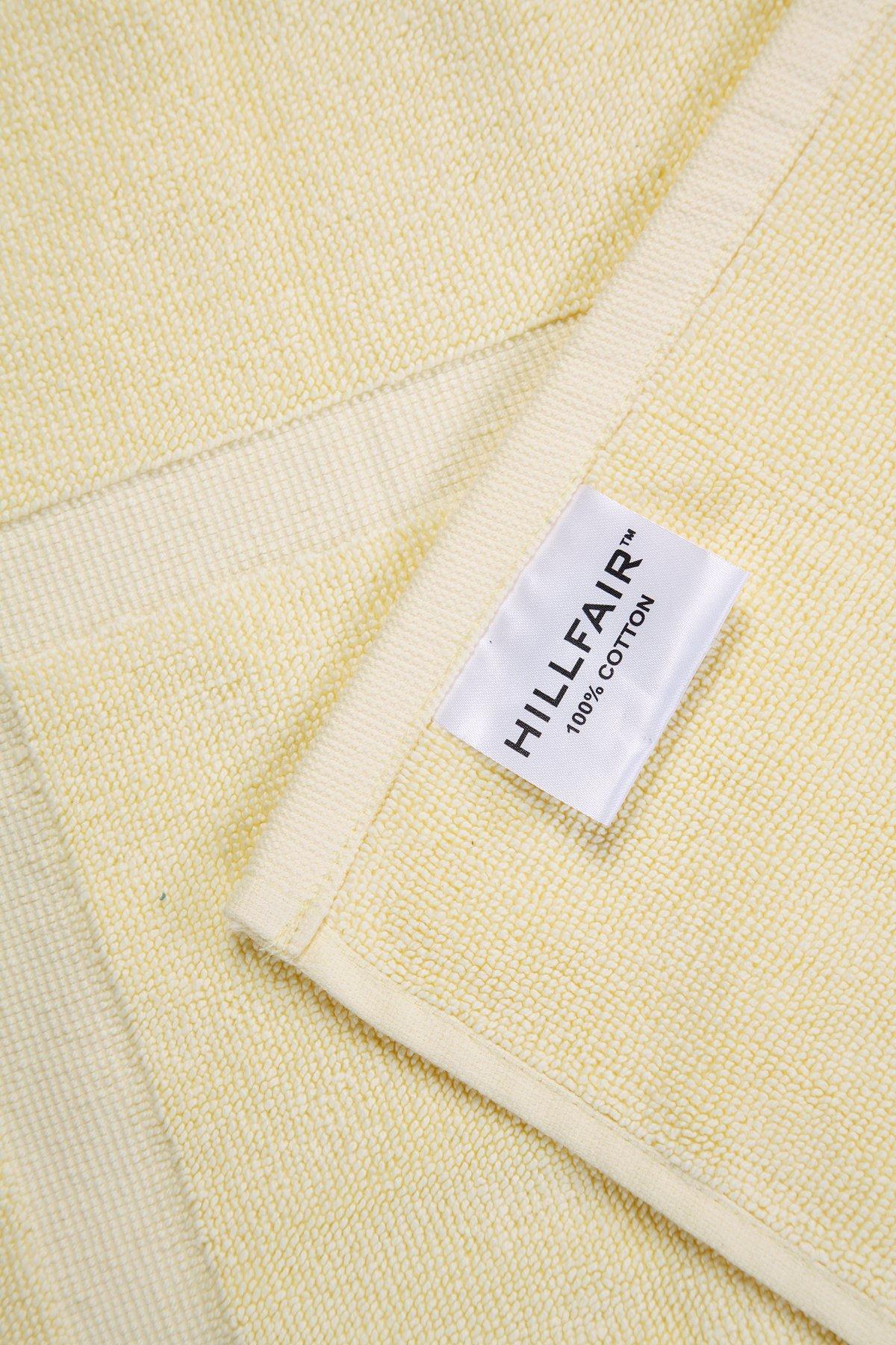HILLFAIR Bath Towels Set (Bath Mat-Set of 2, Yellow) by HILLFAIR (Image #4)