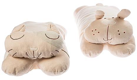 Almohada Bebé con peluche un-dyed algodón orgánico suave funda de almohada de – ideal