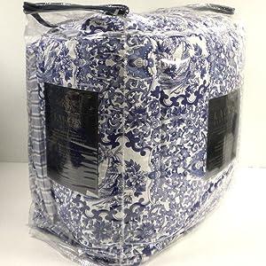 Lauren Ralph Lauren Comforter Set Full Queen 3 Piece Tamarind Porcelain Blue White Bird Bedding