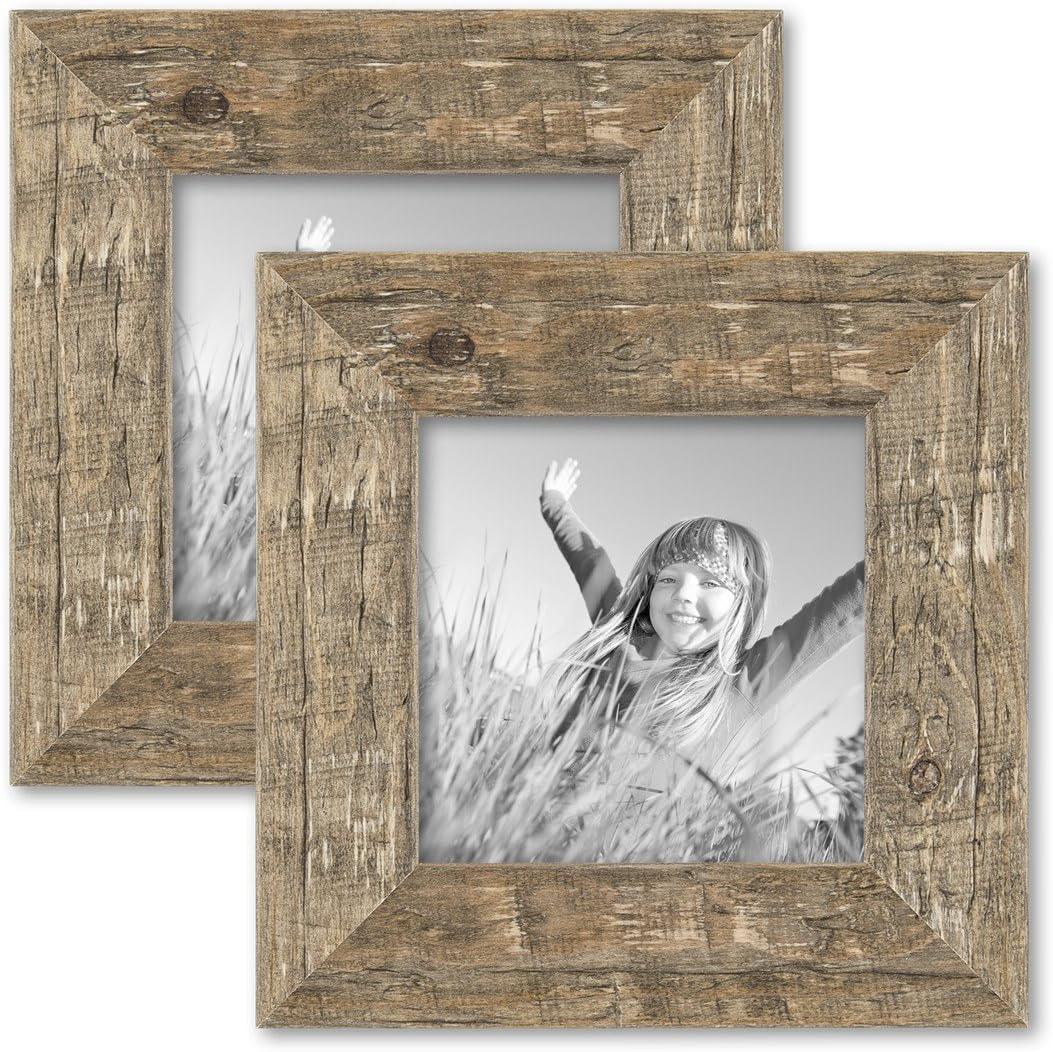 mit Acryl-Glas entspiegelt FW23 Echtholz Bilderrahmen 33 x 20,5 cm Massiv Holz