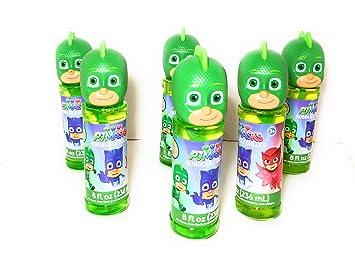 Character PJ Mask Bubbles 6 Piece Set Gekko, Kids Party Supply, Party Favor,