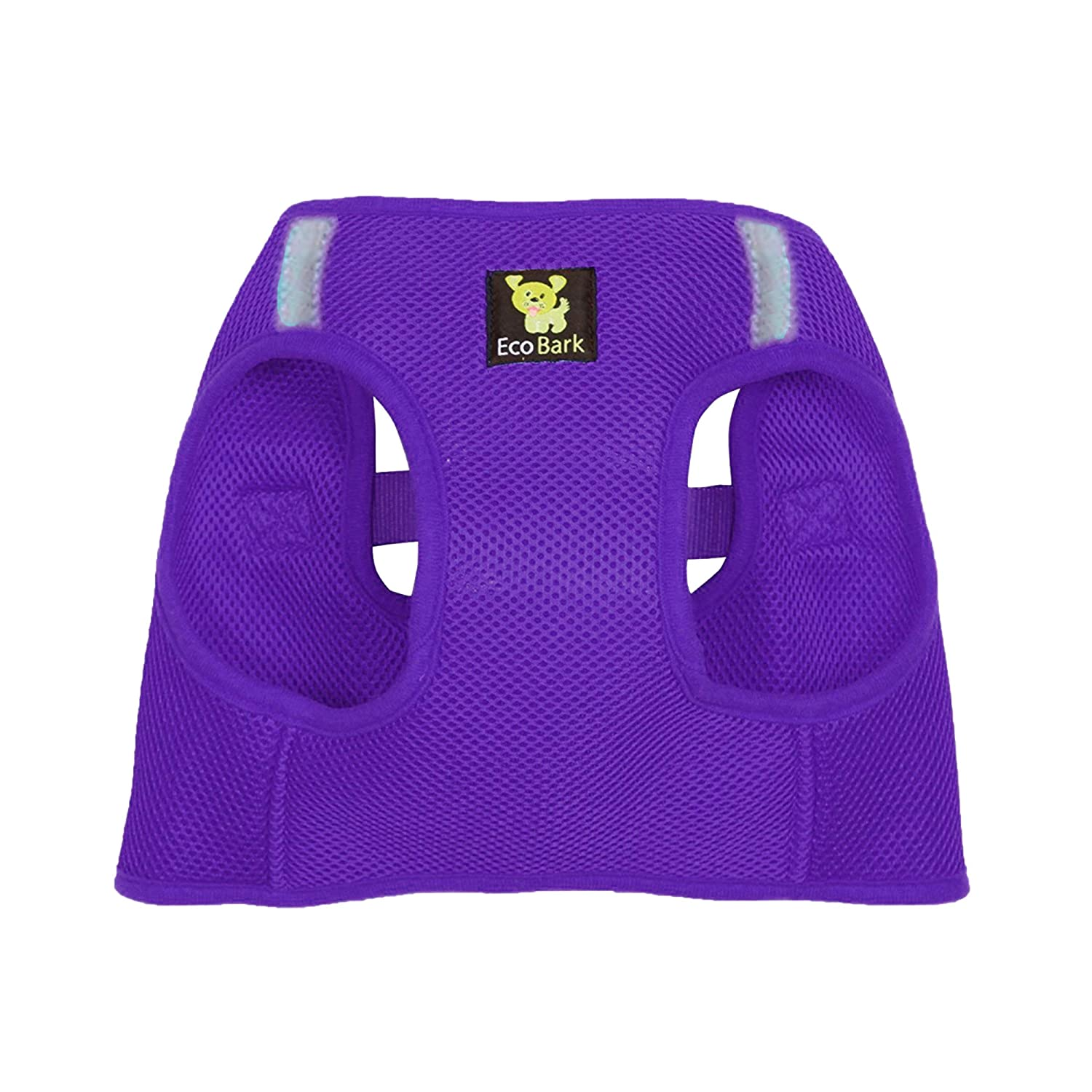 EcoBark Step in Dog Harness Rapid Fastener Reflective Soft Ultra Padded Mesh Dog Harnesses Eco-Friendly Comfort Secure Halter No Pull Adjustable Pet Vest for Toy Breeds Small Medium Dogs and Puppies