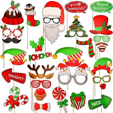 Noël Barbe Décorations Nouveauté Amusant Noël Barbe Accessoires